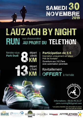 Lauzach by night, Run non chronométré au profit du TELETHON