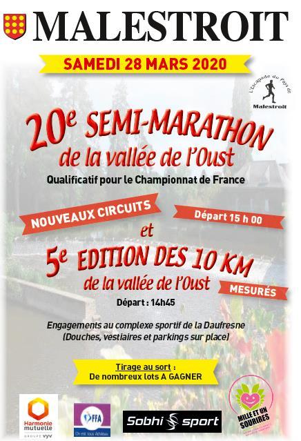 20ème Semi marathon et 5ème 10 Kms de la Vallée de l'Oust